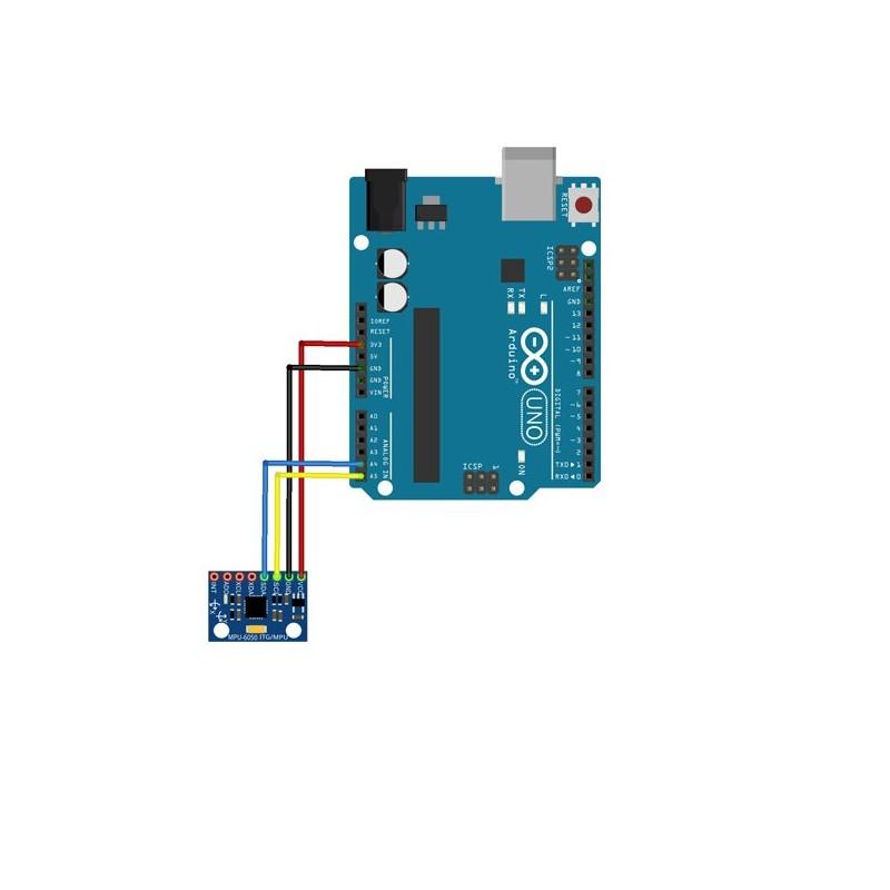 Montage Arduino Uno et module MPU6050