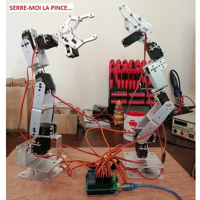 Bras robot arduino bluetooth-duo