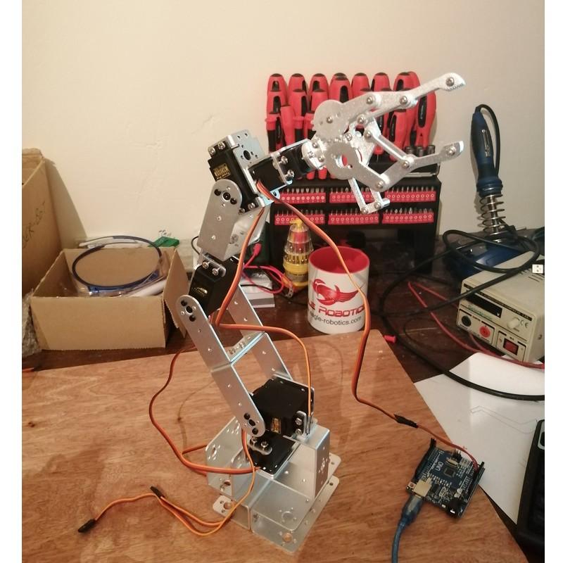 Phase18-3 Montage Bras robot Arduino