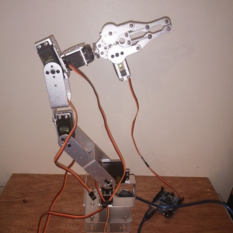 Phase21-1 Montage Bras robot Arduino