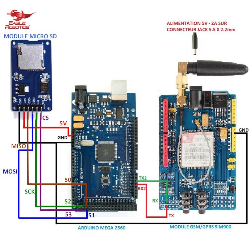 Arduino SIM900 wiring